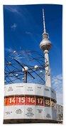 The Worldtime Clock Alexanderplatz Berlin Germany Beach Towel