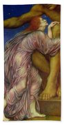 The Worship Of Mammon Beach Towel by Evelyn De Morgan