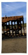 The Wreck Of The Peter Iredale - Oregon Beach Towel