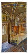 The Yellow Room At Fonthill Castle Beach Towel