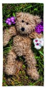 These Are For You - Cute Teddy Bear Art By William Patrick And Sharon Cummings Beach Towel