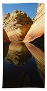 The Wave Reflected Beauty 1 Beach Towel