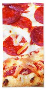 Thick Crust Peperoni Pizza Beach Towel