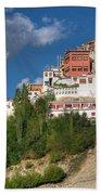 Thiksay Monastery Ladakh Jammu And Kashmir India Beach Towel