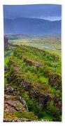 Thingvellir National Park Rift Valley Beach Towel
