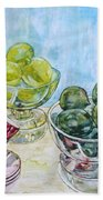 Thinking Of Cezanne Green Beach Towel