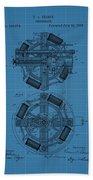 Thomas Edison Blueprint Phonograph Beach Towel