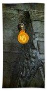Thomas Edison Lightbulb Beach Towel