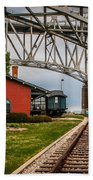 Thomas Edison Museum And Rr Track Beach Towel
