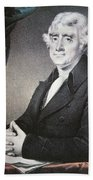 Thomas Jefferson Beach Towel by Nathaniel Currier