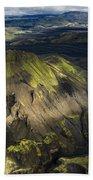 Thorsmork Valley In Iceland Beach Towel