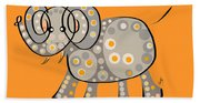 Thoughts And Colors Series Elephant Beach Towel