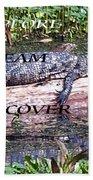 Thr Gator Beach Towel