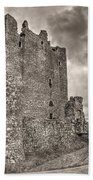 Threave Castle In Grey Beach Towel