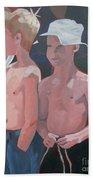 Three Boys Beach Towel