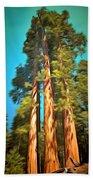 Three Giant Sequoias Digital Beach Towel