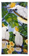 Three Is A Crowd Hand Embroidery Beach Towel