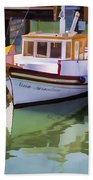 Three Little Boats Beach Towel
