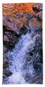 Three Little Forks In The Waterfall Beach Towel