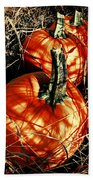Three Pumpkins Beach Towel