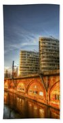 Three Towers Berlin Beach Towel by Nathan Wright