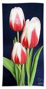 Three Tulips Beach Towel