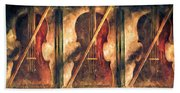 Three Violins Beach Towel