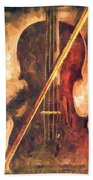 Three Violins Beach Towel by Bob Orsillo