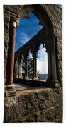 Through Castle Walls Beach Towel