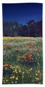 Through The Blooming Fields Beach Towel