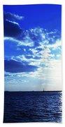 Through The Blue Beach Towel