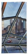Through The Glass At Philly Beach Towel