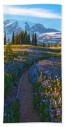 Through The Golden Meadows Beach Towel