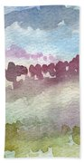 Through The Trees Beach Towel by Linda Woods