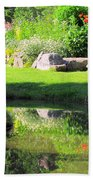 Thula Garden's Water Reflections Beach Towel