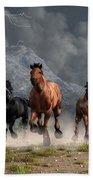 Thunder On The Plains Beach Towel by Daniel Eskridge