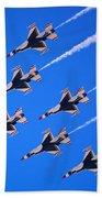 Thunderbirds Jet Team Flying Fast Beach Towel