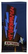 Thunderbolt Rollercoaster Neon Sign Beach Towel