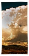 Thunderhead Over The Blacktail Plateau Beach Towel by Marty Koch
