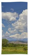 Thunderstorm Clouds Boiling Over The Colorado Rocky Mountains Beach Towel