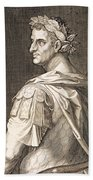 Tiberius Caesar Beach Towel by Titian