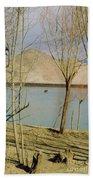 Tibet Lake Burial Beach Towel