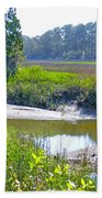 Tidal Creek In The Savannah Beach Towel