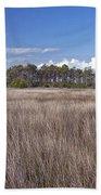Tidal Marsh On Roanoke Island Beach Towel