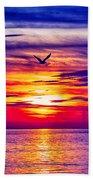 Tie Dyed Sky Beach Towel