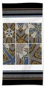 Tied To My Concrete Garden - Kaleidoscope - Hexaptych Beach Towel