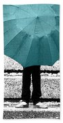 Tiffany Blue Umbrella Beach Towel