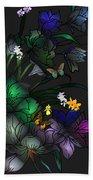 Tiffany Floral Design Beach Towel