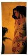 Tiffany Vase Beach Towel