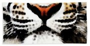 Tiger Art - Burning Bright Beach Sheet